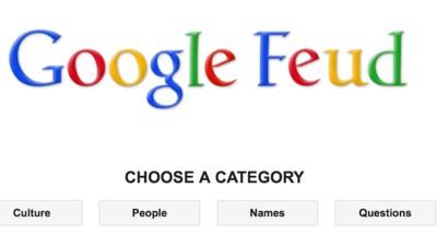 Google Feud: Die Zufälligkeit des Internets als Spiel