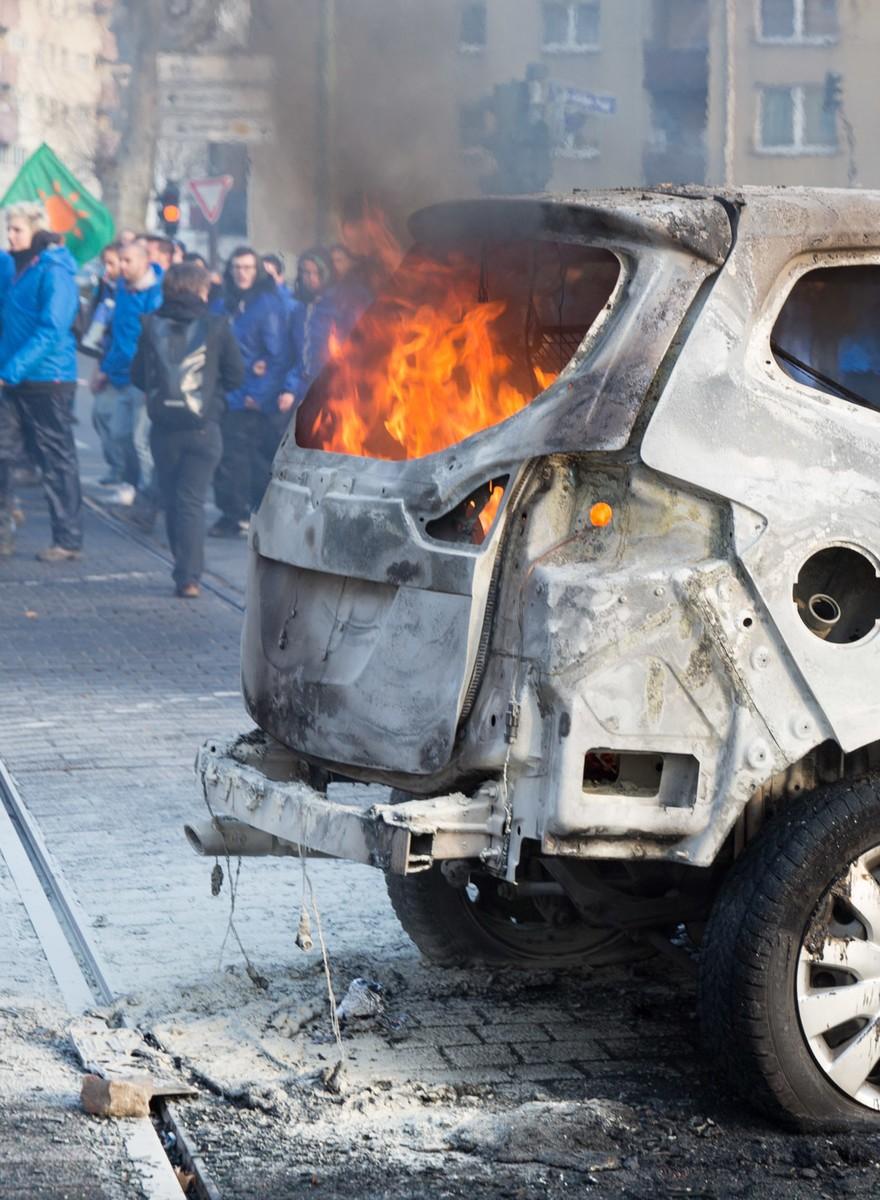 Frankfurt brennt: Bilder von den Blockupy-Protesten