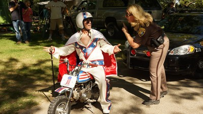 A Motorcyclist Pulled Some Evel Knievel Stunts During a High-Speed Police Chase