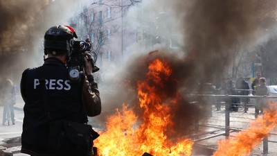 Brandsätze gegen das System: Die Blockupy-Proteste im Video