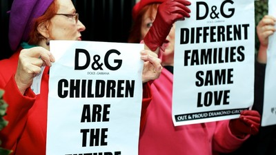 We Went to Today's London Protest Against Dolce & Gabbana's Gay Parenting Comments