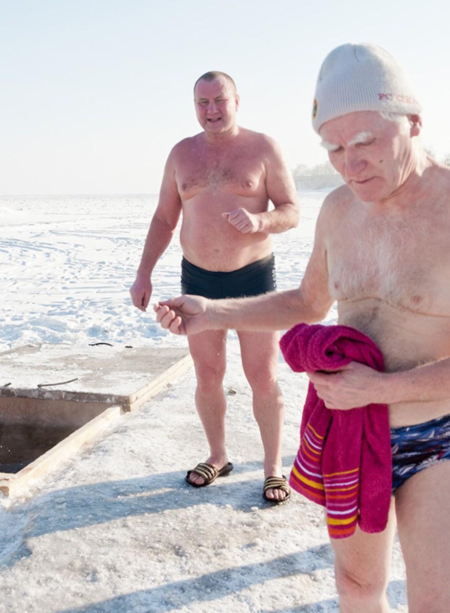 IJszwemmen met de Russen
