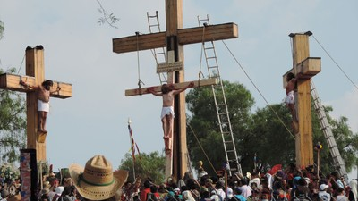 Cuando el peso de ser el Cristo de Iztapalapa no está en la cruz