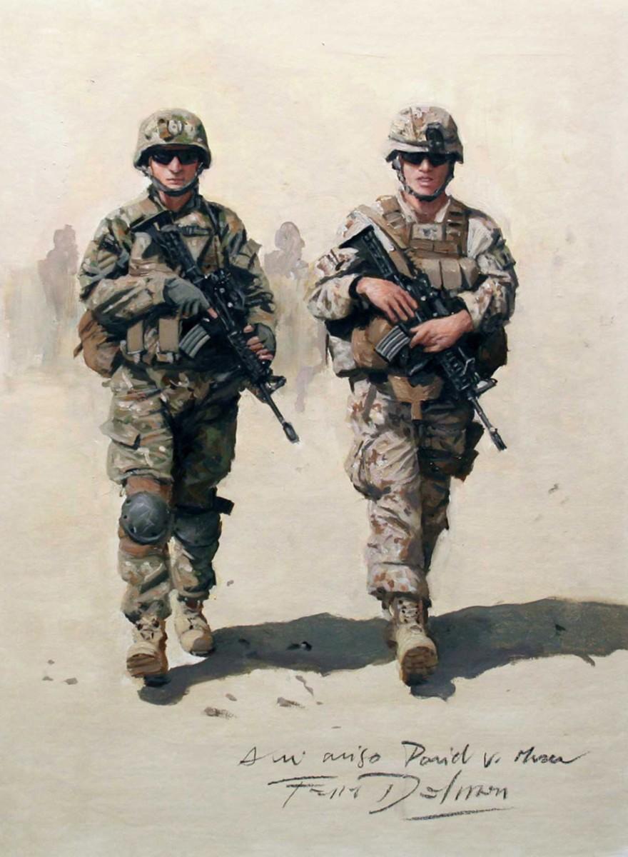 Augusto Ferrer-Dalmau es el único español que se dedica a pintar conflictos armados