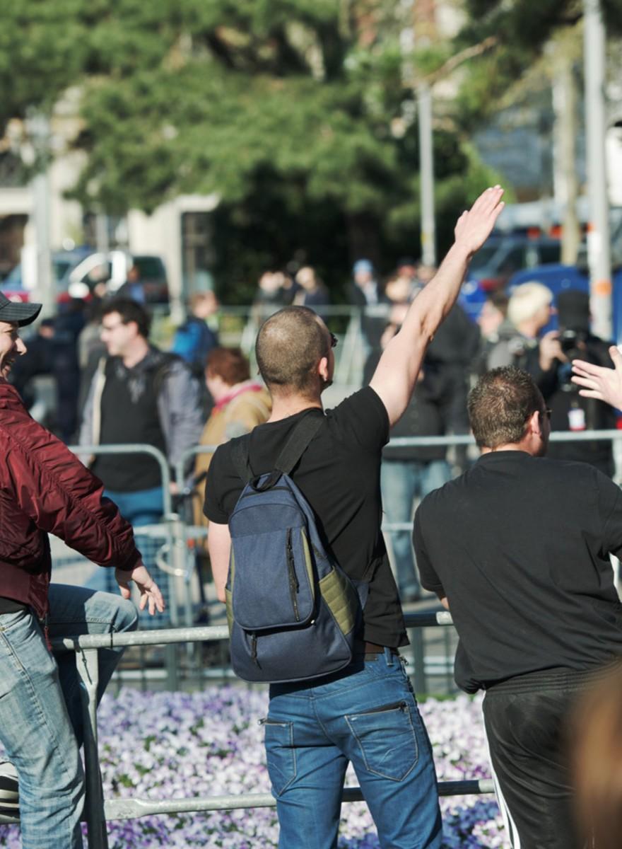Die Fotos von der zweiten Pegida-Demo in Wien