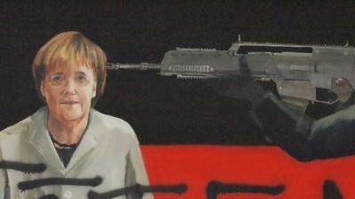 Der Staatsschutz hat gegen mich ermittelt, weil ich ein Bild von Merkel gemalt habe