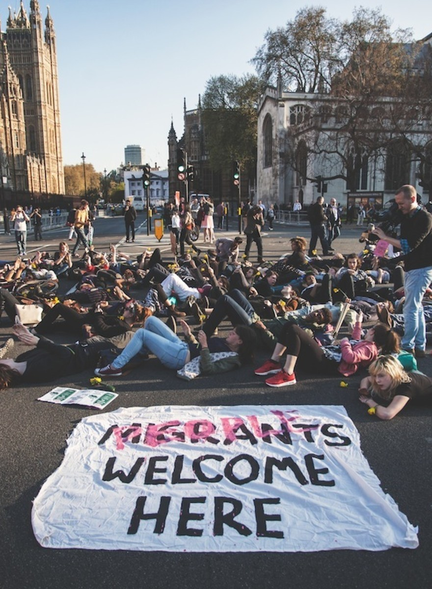 London Activists Held a 'Die-In' for the Migrants Killed in the Mediterranean