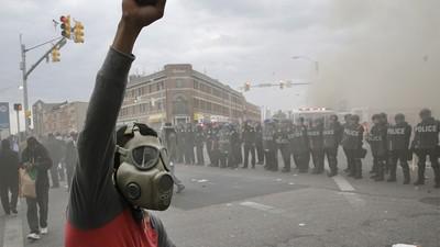 Ruwe beelden van de protesten in Baltimore