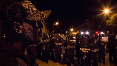 Inside the Chaos, Rage and Confusion That Consumed Baltimore Monday Night
