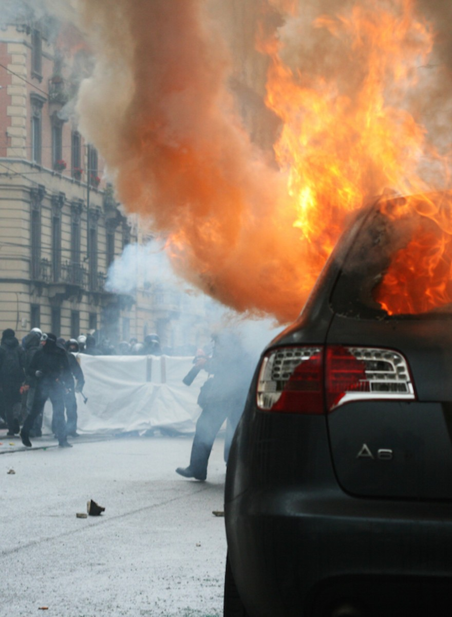 A Left-Wing May Day Protest in Milan Turned Violent