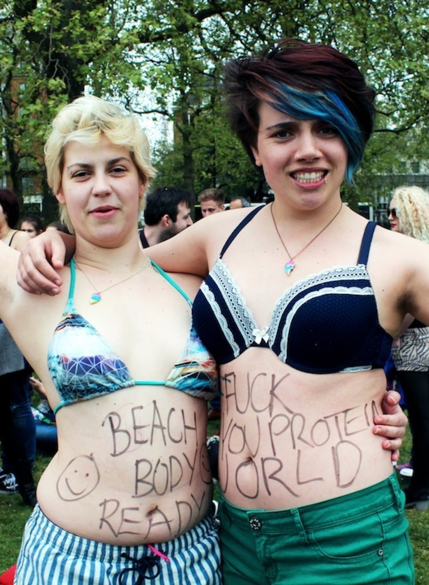 The London Protesters Who Hate a Controversial 'Beach Body Ready' Ad
