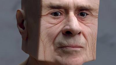 Lee Griggs jagt Gesichter durch den 3D-Scanner, um sie anschließend zu verzerren