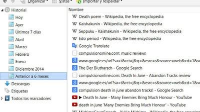 Lo que he aprendido al ver el historial de mi navegador
