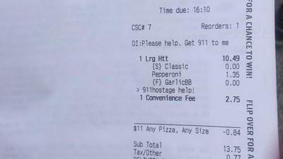 Una mujer secuestrada utilizó la app de Pizza Hut para avisar a la policía