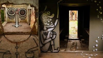 3D-Graffitis durch optische Illusionen