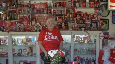 Meet the Coca-Cola-Obsessed Woman Who Made Her House into a Soda Shrine