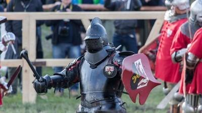 El campeón del mundo de combate medieval lucha en Madrid