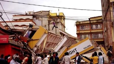 Fotos de uma Evacuação do Nepal
