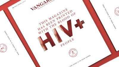 Dit tijdschrift werd gedrukt met hiv-positief bloed