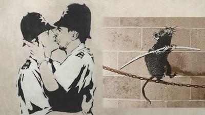 Eine New Yorker Galerie zeigt nie zuvor ausgestellte Werke von Banksy
