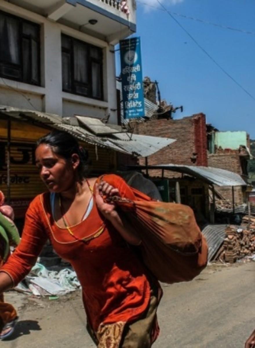 Foto dal nuovo terremoto che ha colpito il Nepal