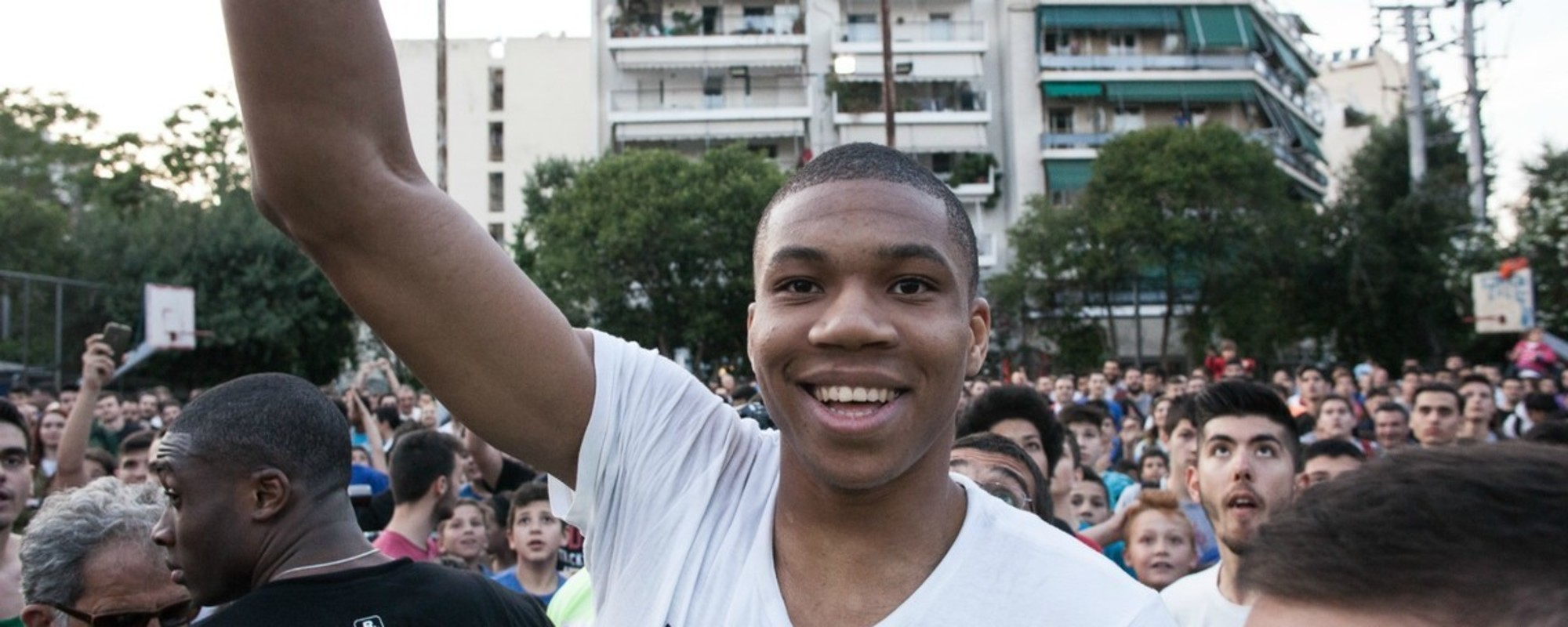 Athens Went Nuts for Its Returning NBA Star Giannis Antetokounmpo Last Week