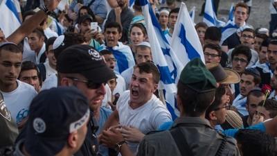 Israëlische feestvierders marcheerden op Jeruzalemdag provocerend door Palestijnse buurten