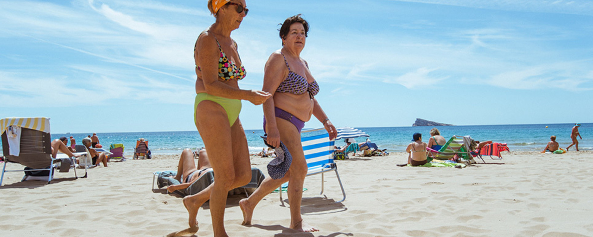 Photos of Pensioners Having a Loliday in Benidorm