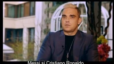 Toate fețele jenate făcute de Robbie Williams în interviul cu Mihai Morar
