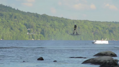 Watch a Dude Set the Guinness World Record for Furthest Flight on a Hoverboard