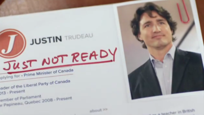 Stephen Harper's New Attack Ad Is Out, and It's Hilariously Bad