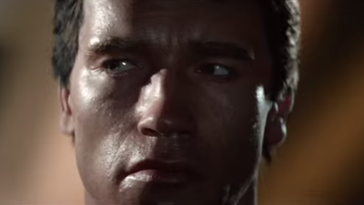 Watch Former Governor Arnold Schwarzenegger Hit His Younger Self in the Head with a Pole in the New 'Terminator' Trailer