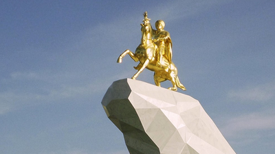 Turkmenistan's Horse-Loving President Built a Giant Gold Statue of Himself Atop His Favourite Steed