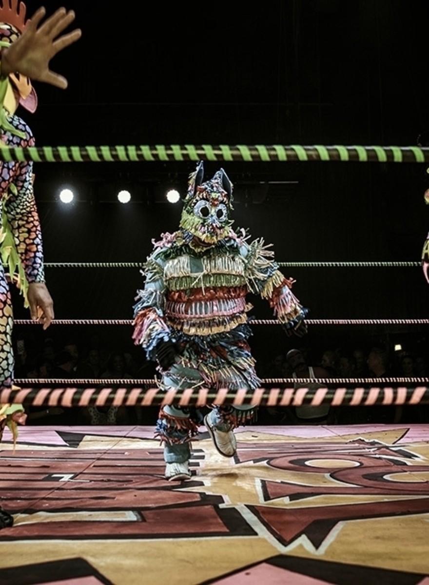Piñatita, el luchador más pequeño de Los Ángeles