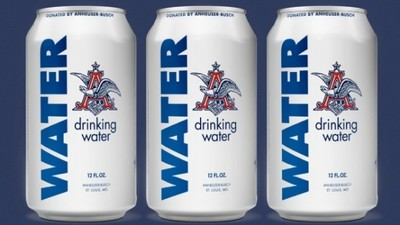 Anheuser-Busch Stopped Making Beer to Crank Out Cans of Drinking Water for Flood Victims