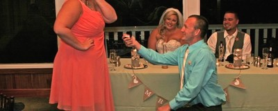 That Viral Photo of the Guy Proposing at Someone Else's Wedding Is the Exact Moment Love Died