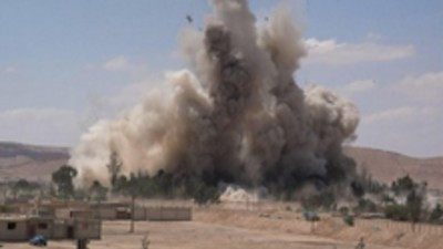 Islamic State Photos Show Notorious Syrian Regime Prison Being Blown to Smithereens