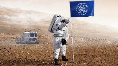 Die Erde ist der erste Planet mit einer eigenen Flagge