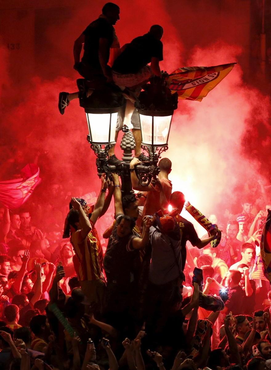 Así celebraron los barcelonistas su quinta Champions