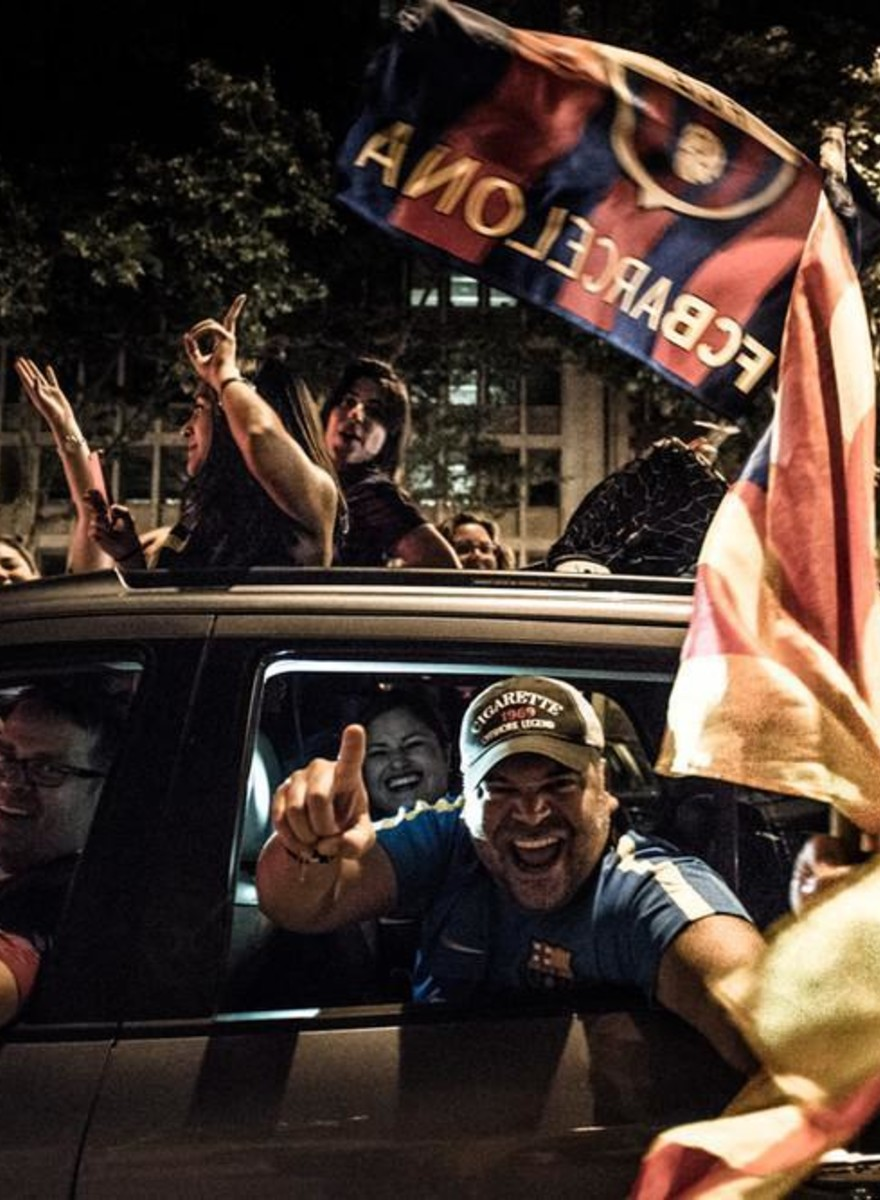 Hanging Out with Drunk Barcelona Fans After They Won the Champions League