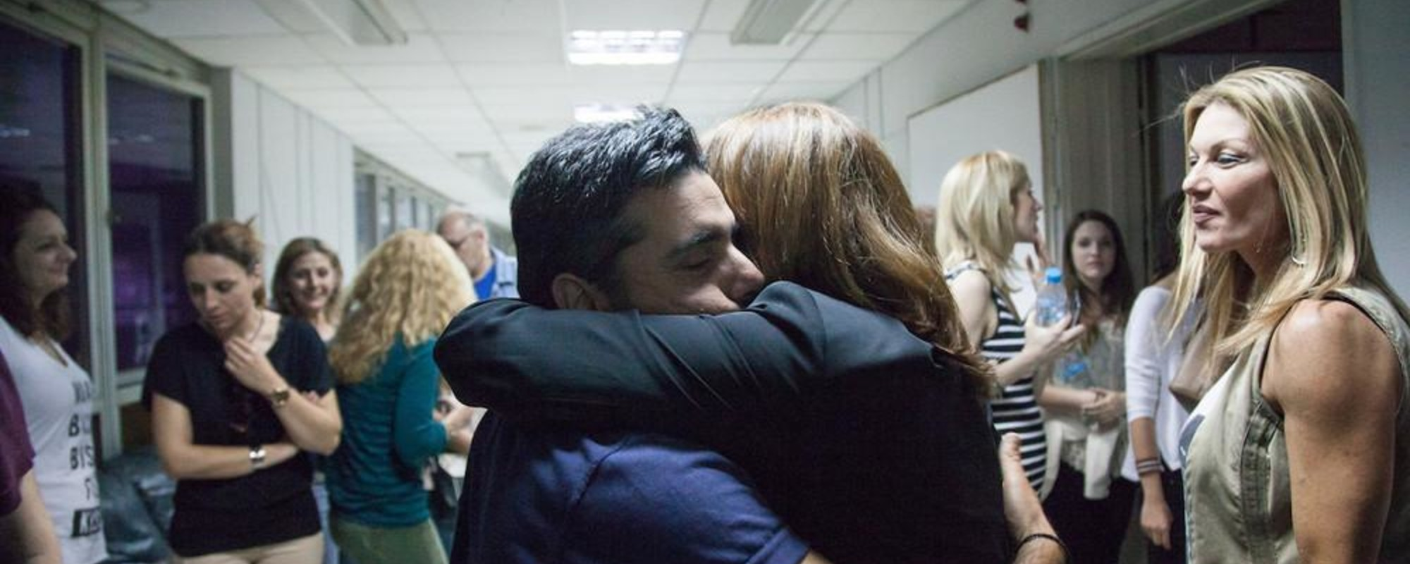 Photos of Greek People Celebrating the Reinstatement of the Country's State Broadcaster