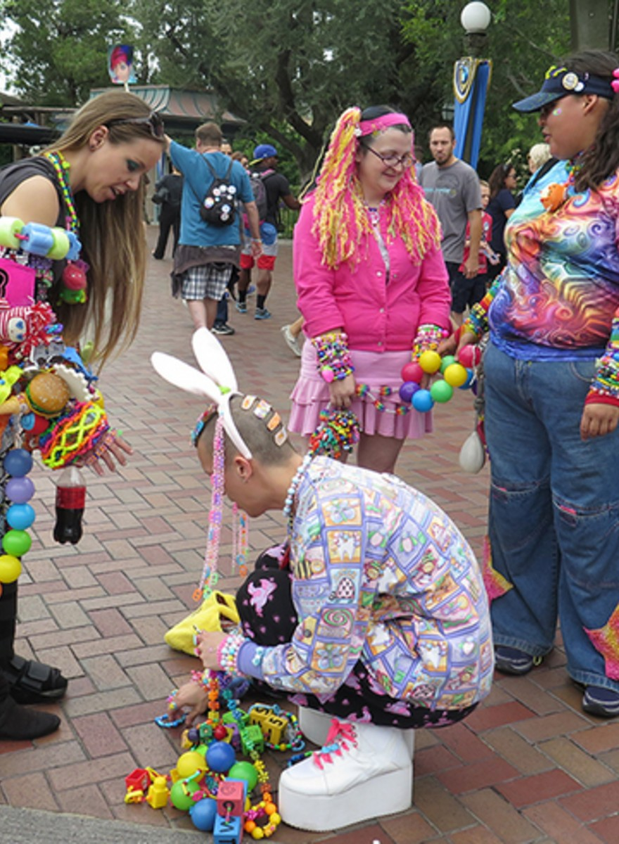 Photos of Multicoloured Raver Kids Taking Over Disneyland