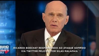 O Jornalista Ricardo Boechat Mandou o Pastor Silas Malafaia Procurar Uma Rola