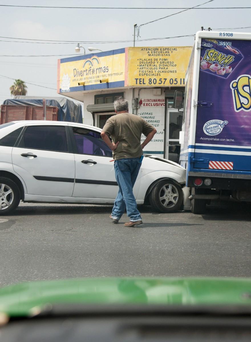Así ve la locura del tráfico un taxista