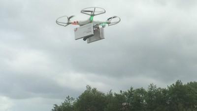 Eine Drohne fliegt dieses Wochenende Abtreibungspillen von Deutschland nach Polen