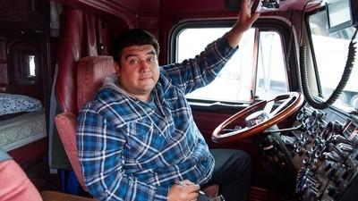 Foto dell'interno delle cabine dei camionisti americani