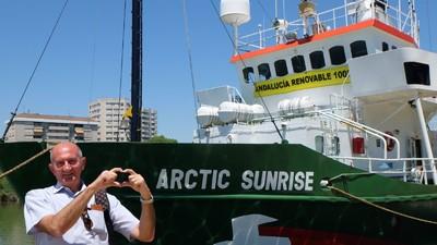 Pasé media semana en un barco de Greenpeace
