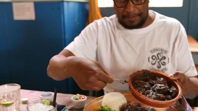Comendo Feijoada em Londres com o Marky