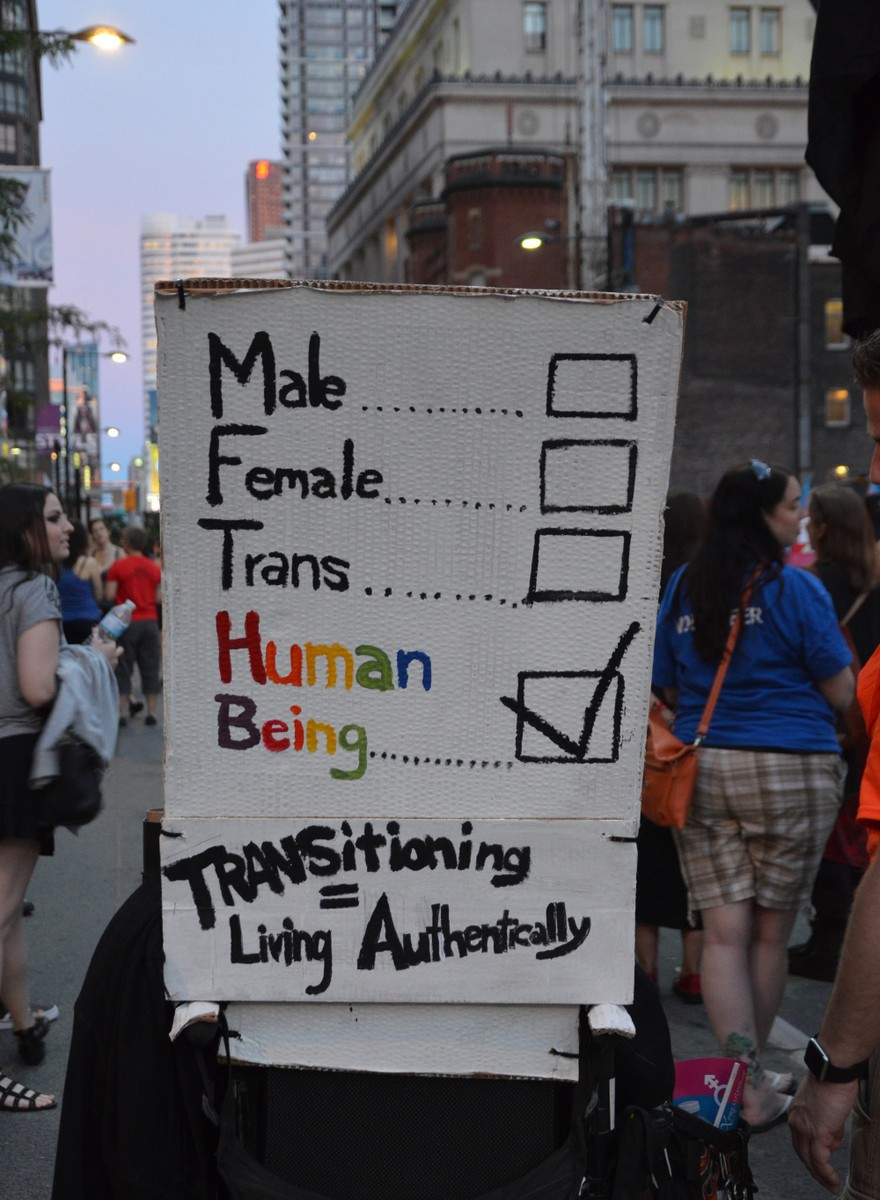 Photos of Toronto's Trans* March During Pride