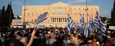 Greeks Took to the Streets of Athens to Say No to the EU Bailout Plan Last Night